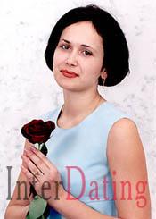 ukrainian woman holding flowers